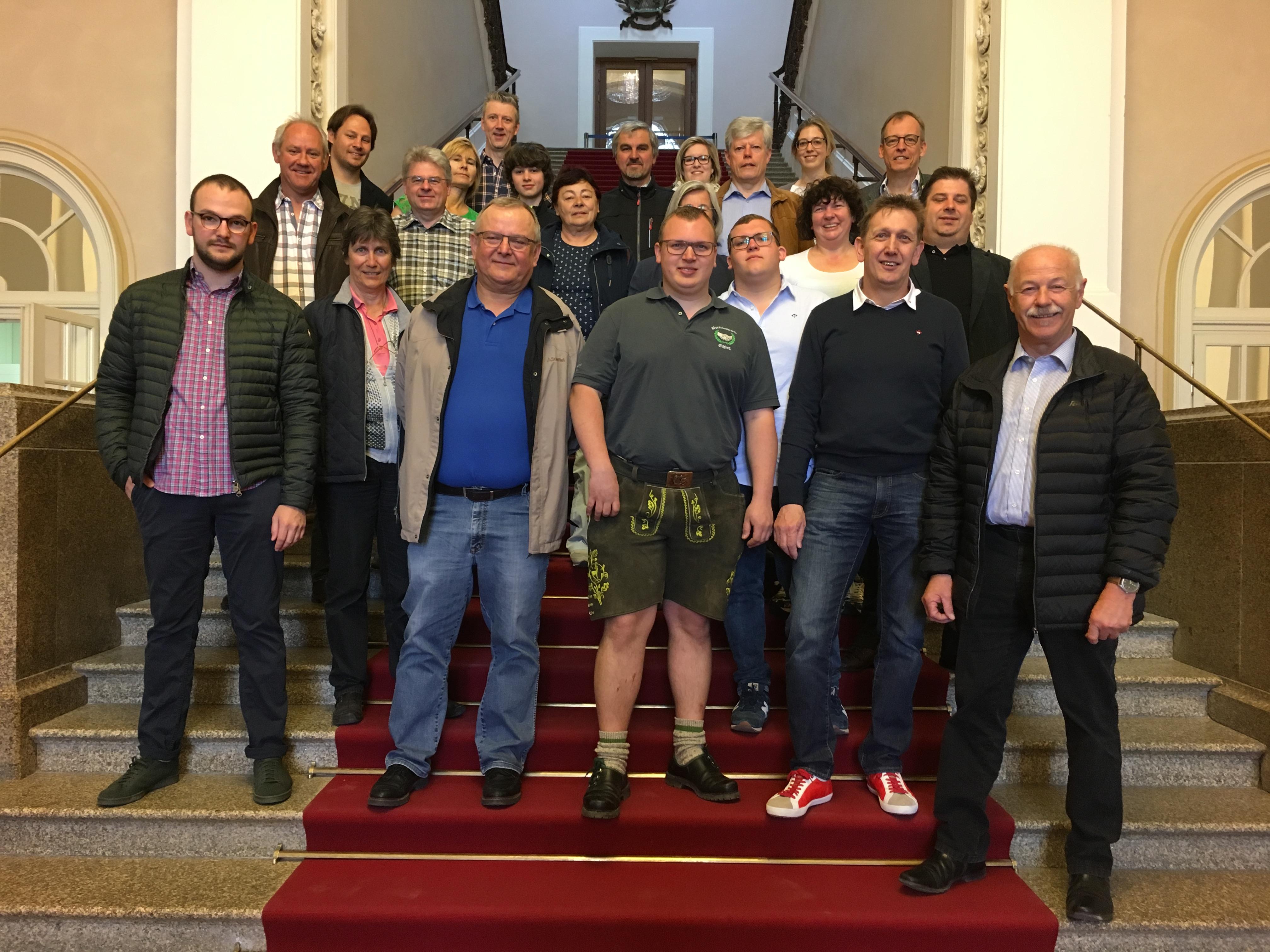 Besuchergruppe FW Eching