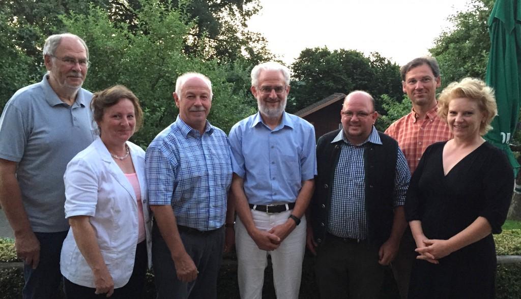 Die Teilnehmer am Treffen des LAK Umwelt (v.l.): Harald Jörg, Sonja Kieslinger, Benno Zierer, Bernd Horst, Martin Söll, Thomas Holzmüller und Ilse Ertl.